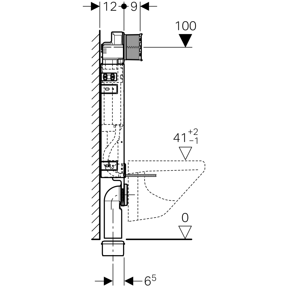 Geberit Kombifix Element For Wall Hung Wc Height 108 Cm With